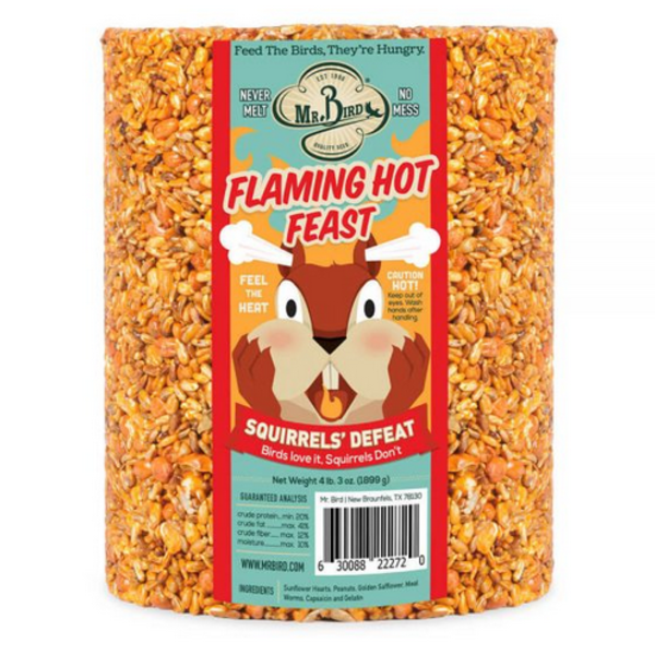 Bird Seed Cylinder | Large | Flaming Hot Feast
