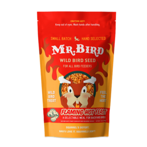 Mr. Bird Bird Seed Bag | Flaming Hot Feast | Small