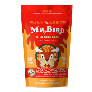 Mr. Bird Bird Seed Bag | Flaming Hot Feast | Large