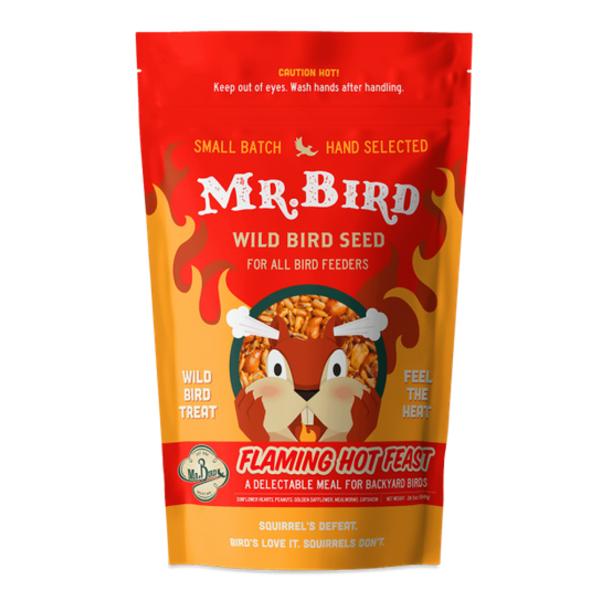 Mr. Bird Bird Seed Bag | Flaming Hot Feast | Large