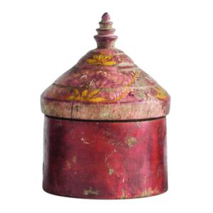 Creative Co-Op Tikka Box | Red Distressed Wood