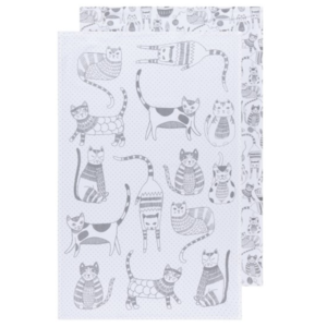 Now Designs Floursack Tea Towel | Set of 2 | London Gray