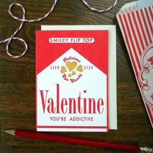 Card | Valentine Candy Cigarette