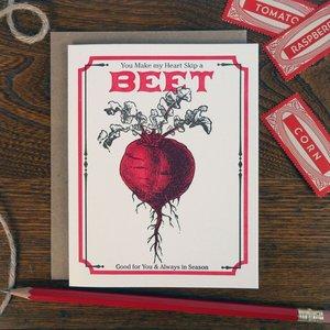 Card   Vintage Beet Seed Pack