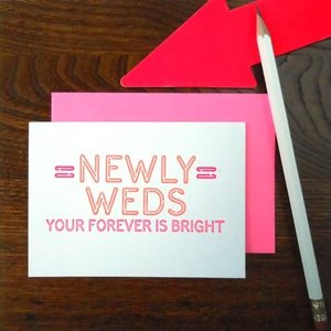 Favorite Design Card | Wedding Neon Sign