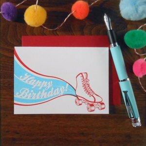 Favorite Design Card | Roller Skate Bday