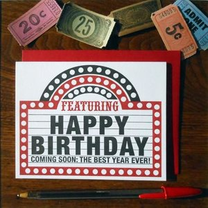 Card | Bday Marquee