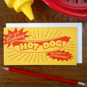 Favorite Design Card | Bday Hot Dog