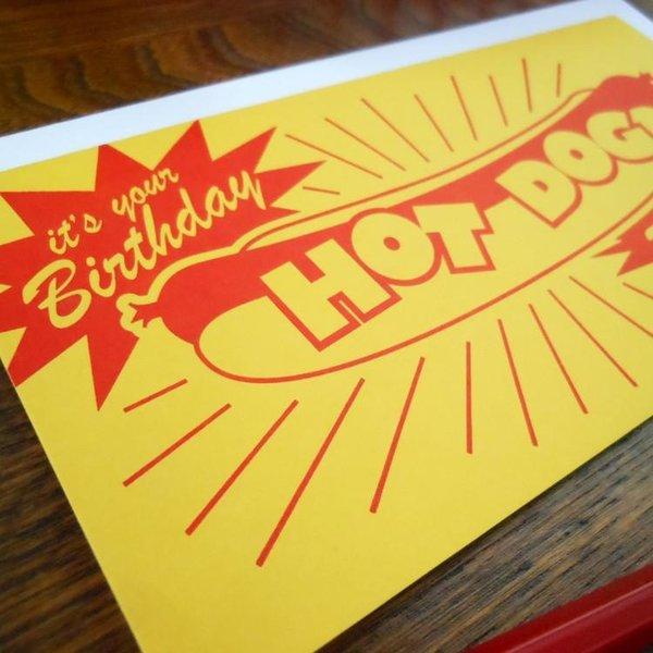 Card | Bday Hot Dog