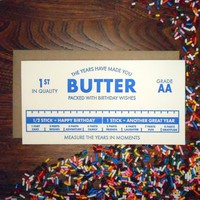 Card | Years Made you Butter