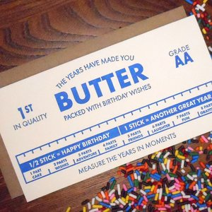 Card   Years Made you Butter