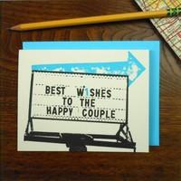 Card | Vintage Wedding Arrow