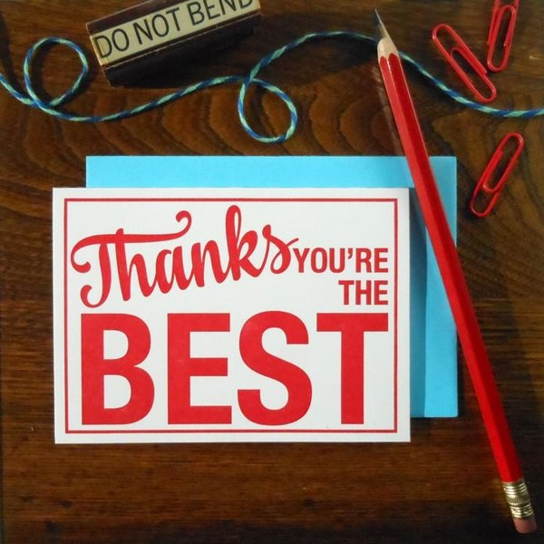 a. favorite design Card   Thanks You're the Best