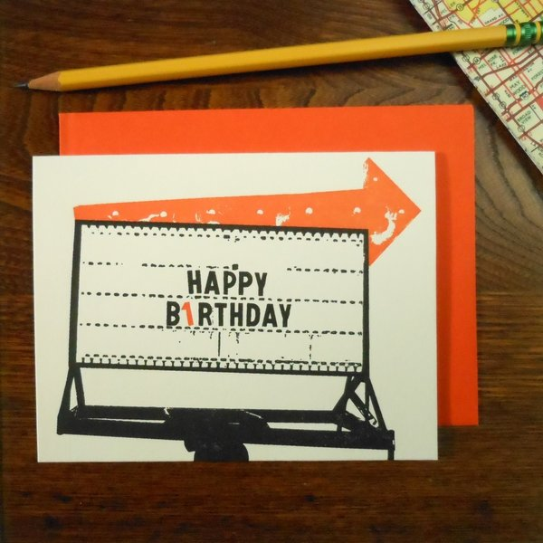 Card | Vintage Bday Arrow