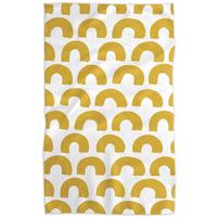 Geometry House Tea Towel   Microfiber   Sunny Hills