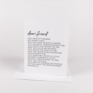 Card   Dear Friend
