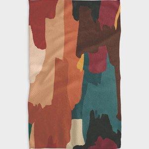 Geometry House Tea Towel | Microfiber | Warm Moody Abstract