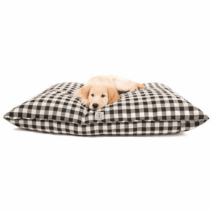 Dog Bed | Buffalo Check | Black Small
