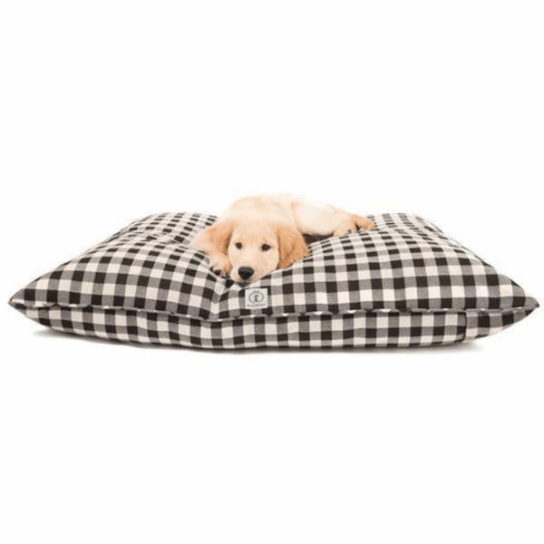 Dog Bed | Buffalo Check | Black Small