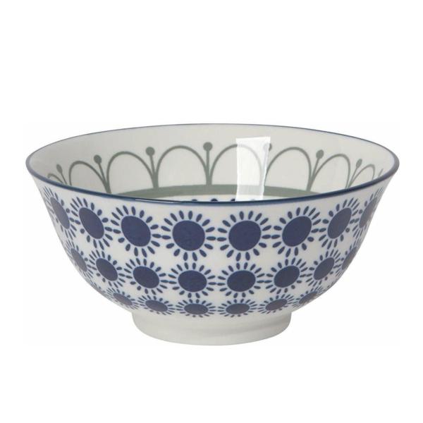 Now Designs Stamped Bowl | Black/Navy Sun