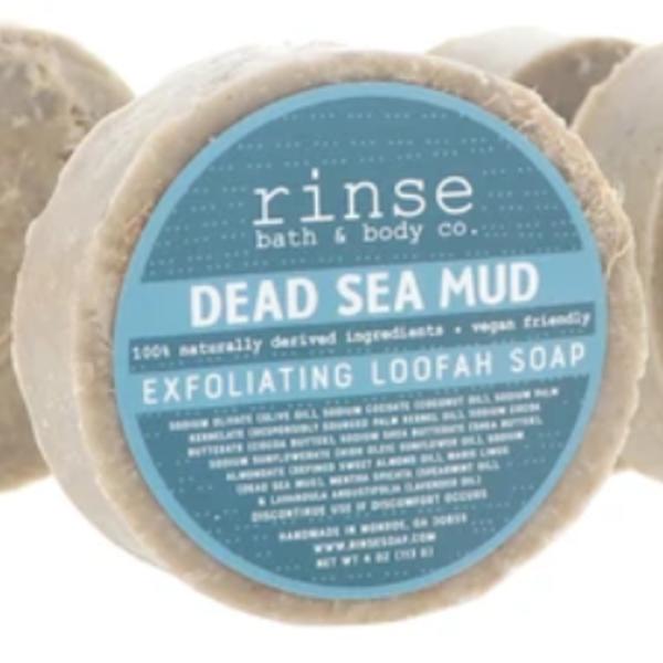 Rinse Bath & Body Loofah Soap | Dead Sea Mud