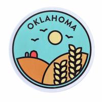 Stickers Northwest Sticker | Oklahoma | Wheat Badge