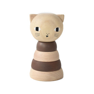Wee Gallery Wood Stacker | Cat
