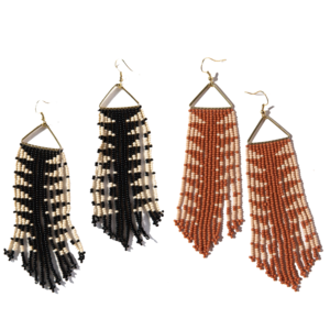 "Earrings | Triangle | 4.5"" Fringe"