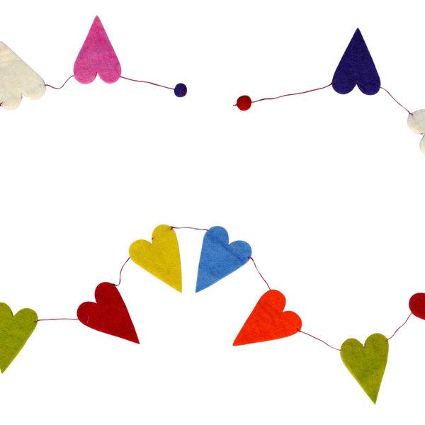 Felt Garlands | Hearts