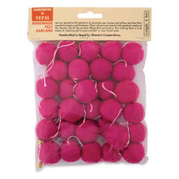 Giftsland Felt Ball Garlands | Large