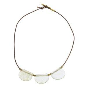 HomArt Brass Necklace | Playa | Glass Drop