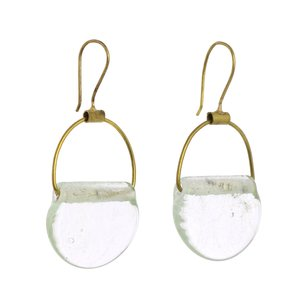 HomArt Brass Earrings | Playa | Glass Drop