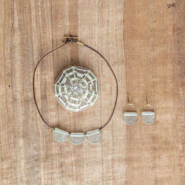 HomArt Brass Earrings   Playa   Glass Drop