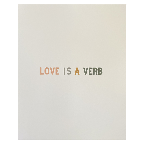 Print | Love Is A Verb | Colorblock