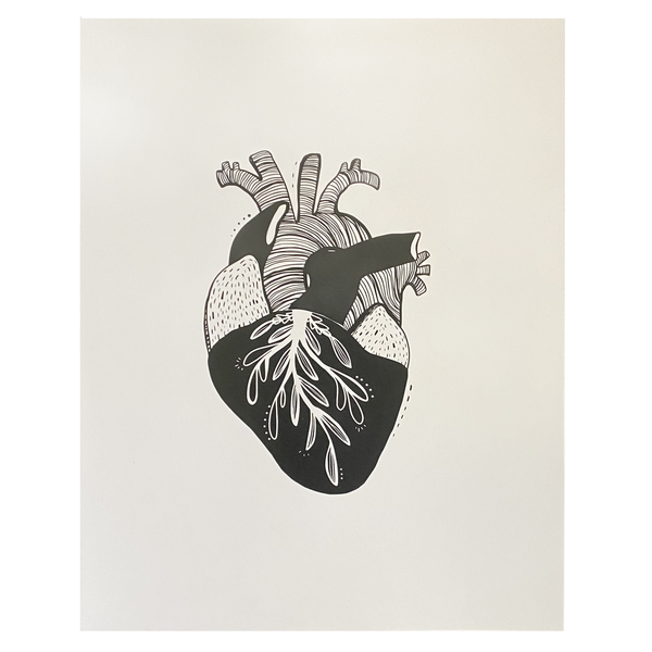 Print | Anatomical Illustrated Heart