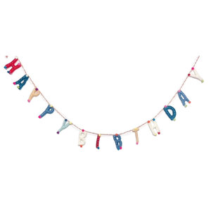 Felt Garland | Colorful Happy Birthday