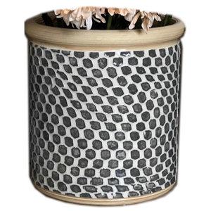 Terrafirma Ceramics Inc. Wine Chiller | Dot Charcoal