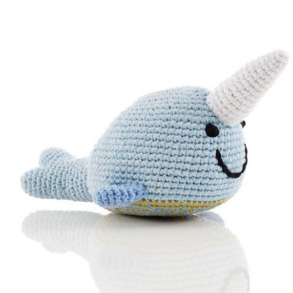 Pebble Crochet Rattle | Narwhal