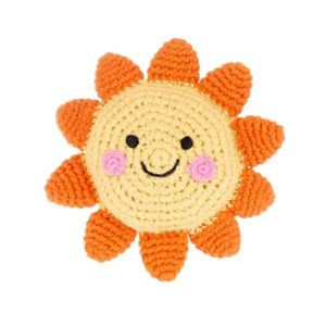 Pebble Crochet Rattle | Sun