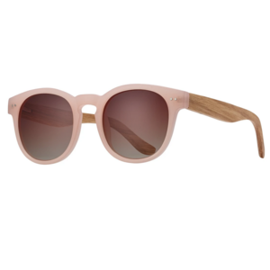 Blue Planet Eyewear Sunglasses | Dev | Matte Pink / Zebra Wood
