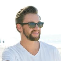 Blue Planet Eyewear Sunglasses | Wallace | Matte Black + Honey Tortoise