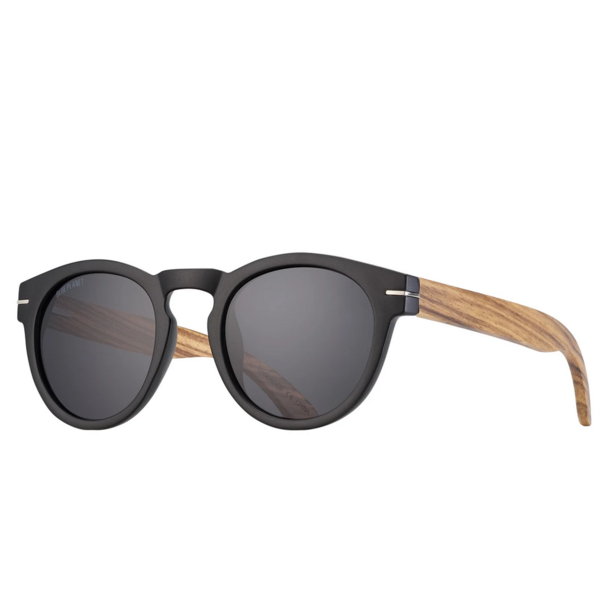 Sunglasses | Cortez | Matte Black + Walnut Wood