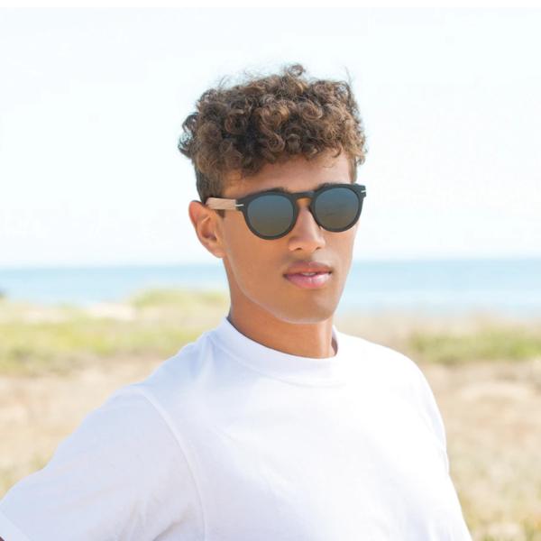 Sunglasses   Cortez   Matte Black + Walnut Wood
