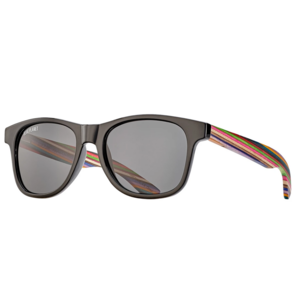 Sunglasses | Indio | Black + Rainbow Wood