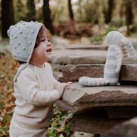 Pebble Crochet Toy | Organic Teal Bunny