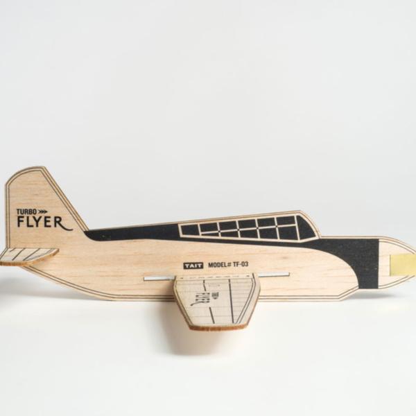 TAIT Design Co. Model Airplane Kit | Turbo Flyer | Black