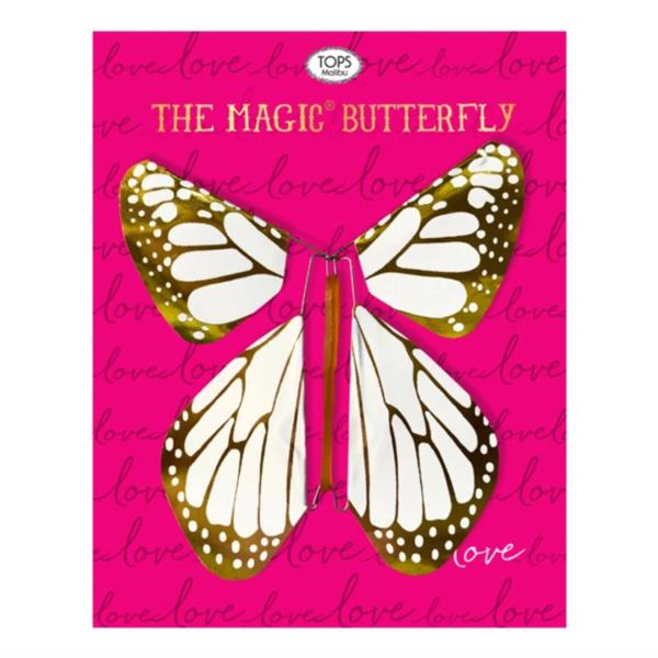Tops Malibu Magic Butterfly   Love   White/Gold Metallic