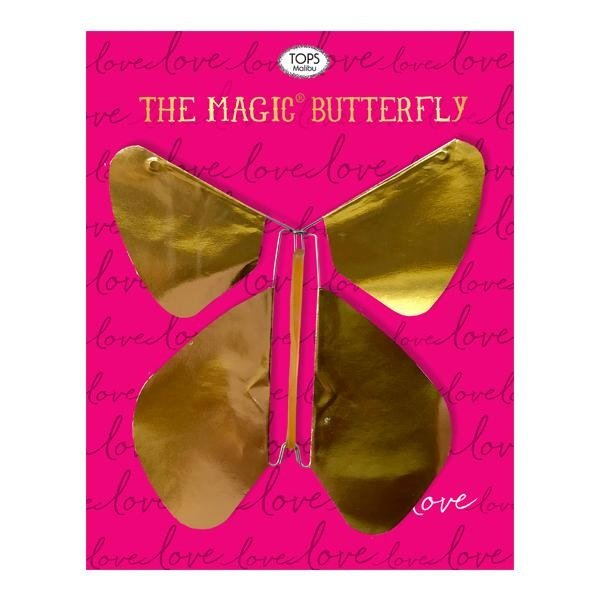 Tops Malibu Magic Butterfly | Love | Gold Metallic