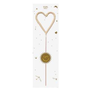 Tops Malibu Big Sparkler Wand | Gold Heart