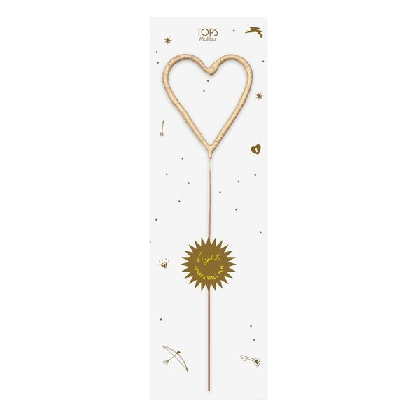 Tops Malibu Big Sparkler Wand | Gold Heart
